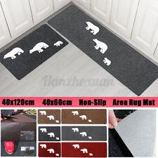 1/2Pcs Waterproof Kitchen Floor MatsBathroom Carpet Non Slip Door Entrance Rug