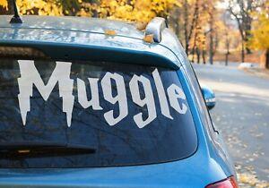 Harry Potter Muggle writing Vinyl Sticker Car Window laptop 9 Colour's Choice