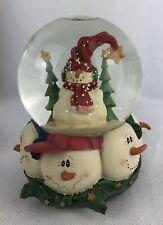 Snow Man Globe Music Box