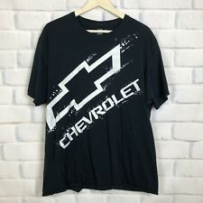 Chevrolet Mens Size XL 46 / 48 Black Graphic Tee Crew Short Sleeve T-shirt