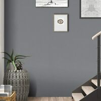 Gray Self Adhesive Wallpaper Wall Sticker Solid Color Contact Paper Vinyl Film
