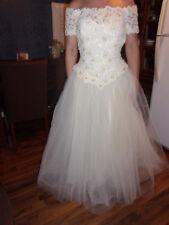 VENUS Off Shoulder White Ivory Wedding Dress Beaded Bridal Gown Size  6