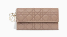 MISS LADY DIOR WALLET Baby Pink Cannage Quilted Leather 100% AUTHENTIC