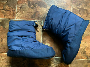 VTG PARBAT High Mountaineering INSULATED PUFFY SLIPPER BOOTIES TENT SHOES  SZ L