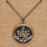 "Twilight New Moon Cullen Crest Jacob Edward Silver & Gold Tone Necklace 17"" + 1"""