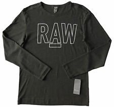 Men's G-STAR RAW / G RAW Gray Logo Knit L/S Long Sleeve Shirt Medium M NWT NEW