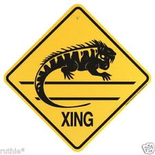 Iguana Crossing Xing Sign New