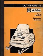 1976 BOMBARDIER SKI-DOO OLYMPIQUE SNOWMOBILE PARTS MANUAL (750)