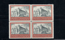 POLAND GENERAL GOVERNMENT 1944 (Scott NB41 CRACOW CASTLE) VF MNH block/4