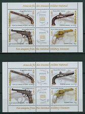 Rumanía 2008 im. bloque 418 I + II ** armas de fuego desde el museo militar, Bucarest