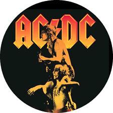 CHAPA/BADGE AC/DC Bonfire . pin button bon scott angus malcom young hard rock