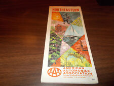 1964 AAA Northeastern US Vintage Road Map