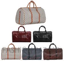 Travel Holdall Weekend Gym Hospital Bag Unisex Cabin Hand Luggage Checked Plain