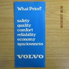 VOLVO 66GL 244DL 245DL 245E 264DL 264GL 265DL UK Market Car PRICE LIST 1975
