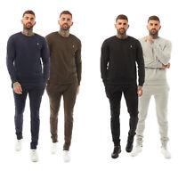 Mens Brave Soul 2 Pack Crew Neck Sweatshirt Jog Bottoms Elasticated Fashion New