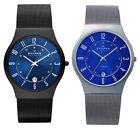 Skagen Men's Quartz 12/24 Hours Titanium Case Stainless Steel Mesh Watch