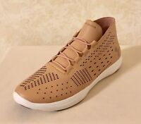 Women Under Armour Street Precision Mid Lifestyle Shoes Tinted Leather Neutral