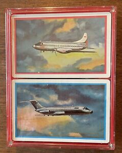 RARE 1960's Trans-Texas Airlines Double Deck Playing Cards. Mint Sealed