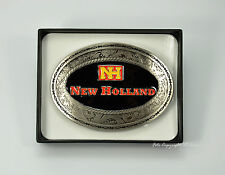 * NEW HOLLAND Trecker Gürtelschnalle Tractor Emblem Bagger Logo Belt Buckle *601