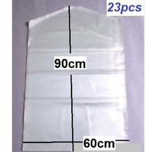 23x Garment Protection Covers Dry Cleaning Bags Clothes Storage 60cmx90cm New