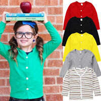 AUSeller Cute Kids Baby Boy Girl Knitted Sweater Cardigan Coat Long Sleeve Top A