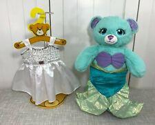 "💜 Build A Bear Disney Little Mermaid Ariel Bear 17"" w/ Costume & White Dress 💜"