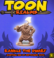 Lucid Eye publications TOON REALMS Rankle the Dwarf , metal figure X1