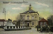 BEVERLOO Belgien Camp Rathaus Denkmal alte Kanone AK CPA ca. 1. Weltkrieg