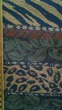 Animal Jungle Design Tapestry Upholstery Quality Home Decor Fabric 1 Yard NEW