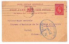 D56 1916 ww1 SUD AFRICA TRANSVAAL kevii Cancelleria Card * DOPPIA CENSURATO * PC