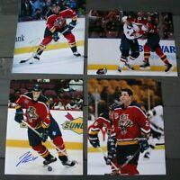 Lot of 4 Autographed Florida Panthers 8x10 Photos  Warrener Kearns Bouwmeester