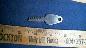 D.S.L. Co antique bank lock box Miller key vintage old safe deposit Mosler