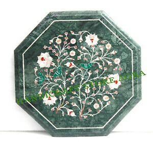 Marble table Top Inlay With Semi-Precious Gems Stone For Home & Office Decor