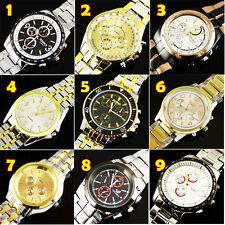 Wholesale! 9PCS Fashion Luxury Watches Men's Quartz Stainless Steel WristWatches