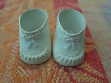 Cabbage Patch Kids vintage 80s white dress shoes molded bow horseman (CPK-1)bn11