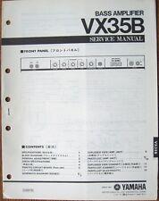Yamaha VX35B Bass Guitar Amplifier Original Service Manual Schematics Parts List