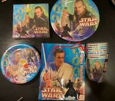 Star Wars Episode 1 Party Paper Plates Napkins Cups Gift Bag (41 pieces)