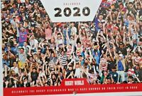 RUGBY WORLD 2020 CALENDAR - APPROX. A4 SIZE UNOPENED - MONTH A PAGE