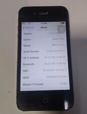Apple iPhone 4s 16GB - Black- Sprint(A1387) Good Condition- Read Below