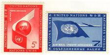 UNO New York 1959 Mi 60-61 Airmail - MNH