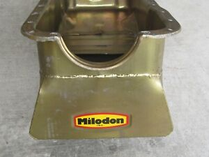 Milodon 30926 Oil Pan Steel Gold Iridite 8 qt. For Ford 351W