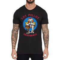 New Men's Funny Los Pollos Hermanos T-Shirt Cotton Short Sleeve Tops Summer Tee