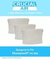 3 Honeywell HC-888 & Duracraft D88 Humidifier Filter DCM-200 DH-888 HCM-890 890B