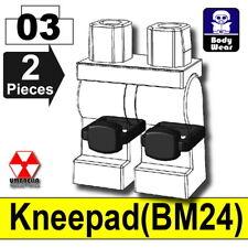 Black Kneepads for LEGO army military brick minifigures