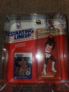 1988 Scottie Pippen Chicago Bulls Kenner NBA Starting Lineup SLU Rookie Piece