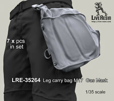 Live Resin 1:35 M17 US Protective Gasmask leg Carry Bag Resin Detail #LRE35264
