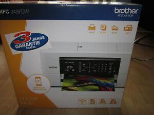 Brother MFC-J497DW 4-in-1 Farbtintenstrahl-Multifunktionsdrucker - Weiß NEU OVP