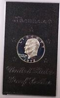 1972-S Proof 40% Silver Eisenhower IKE Dollar Coin with Original US Mint Box