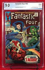 FANTASTIC FOUR #65 PGX 9.0 VF/NM FIRST RONAN GOTG & Avengers UNPRESSED + CGC!!!