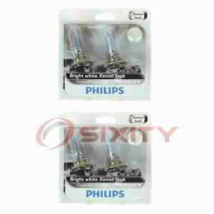 2 pc Philips High Low Beam Headlight Bulbs for Fiat 500 500L 500X 2012-2020 yq